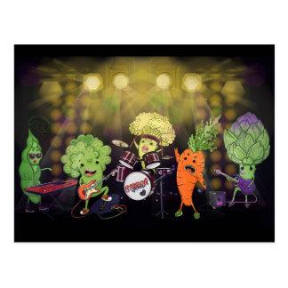 Banda del vegano de la roca tarjetas postales