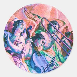 Banda divina de la música pegatina redonda