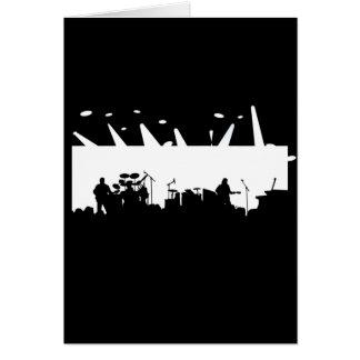 Banda en la silueta B&W del concierto de la etapa Tarjeta De Felicitación