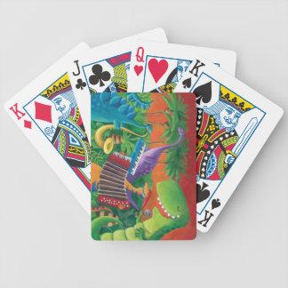 Banda enrrollada del dinosaurio barajas de cartas