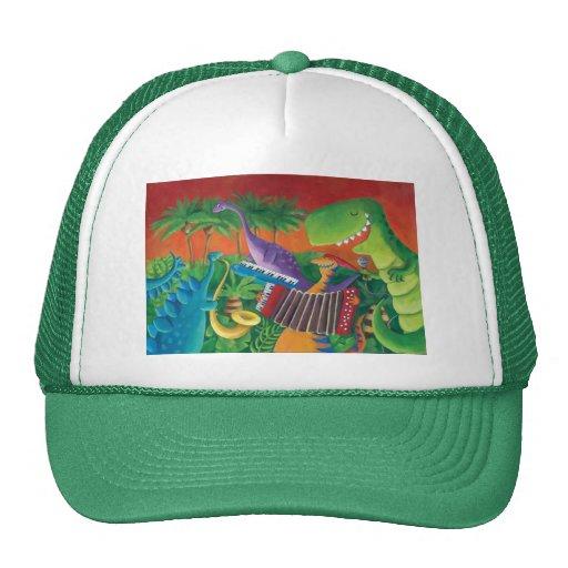 Banda enrrollada del dinosaurio gorras de camionero