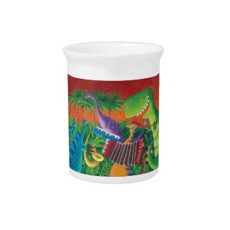 Banda enrrollada del dinosaurio jarra de beber