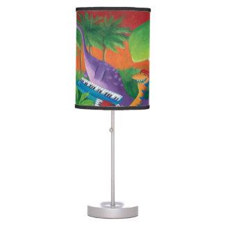 Banda enrrollada del dinosaurio lámpara de mesa
