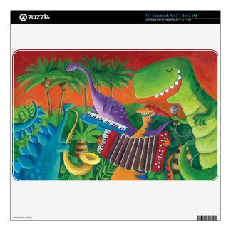 Banda enrrollada del dinosaurio MacBook air calcomanías