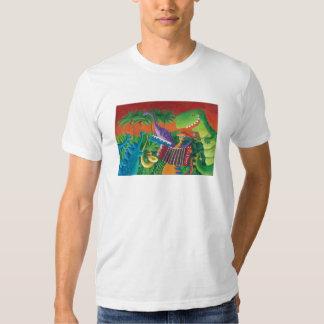 Banda enrrollada del dinosaurio playeras