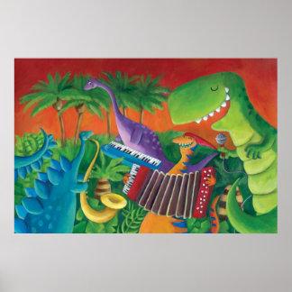 Banda enrrollada del dinosaurio póster