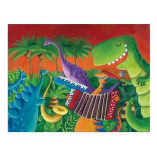 Banda enrrollada del dinosaurio tarjetas postales
