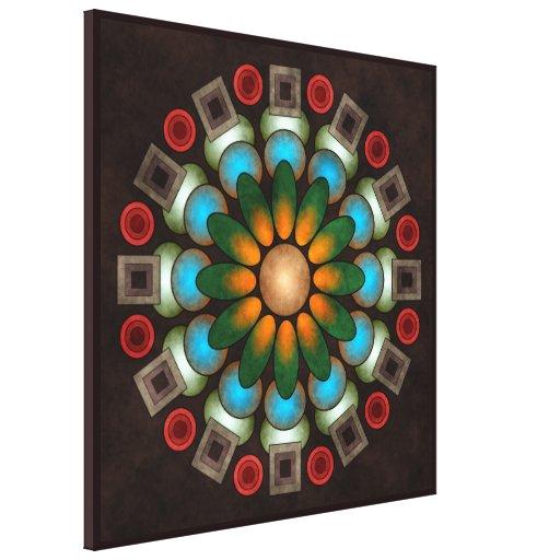 Banda envuelta arte abstracto floral lindo de la l impresión en tela