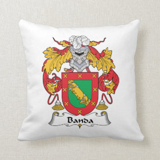 Banda Family Crest Throw Pillow