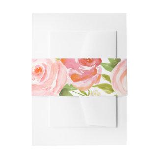 Banda floral del Belly del boda de la rosaleda Cintas Para Invitaciones