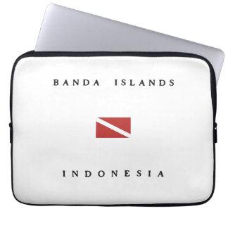 Banda Islands Indonesia Scuba Dive Flag Laptop Sleeve