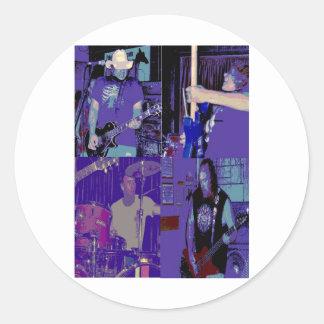 Banda julio de 2009 vivo pegatina redonda