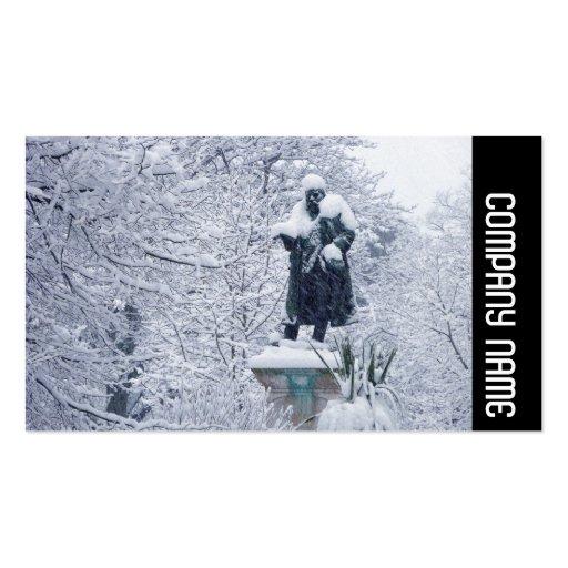 Banda lateral - nieve en el parque tarjeta personal