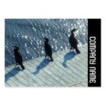 Banda lateral - tres cormoranes tarjeta de visita
