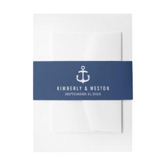 Banda/marina de guerra náuticas del Belly de la Lazos Para Invitaciones De Boda
