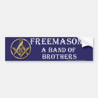 Banda masónica de hermanos etiqueta de parachoque