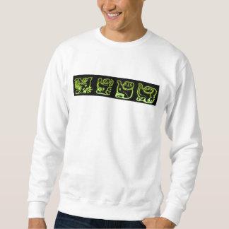 Banda maya verde fresca suéter
