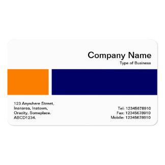 Banda media - dos tonos 02 - naranja y marina de tarjetas de visita