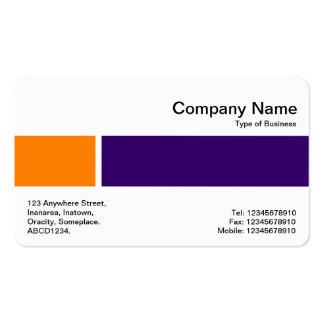 Banda media - dos tonos 02 - naranja y púrpura del tarjetas de visita