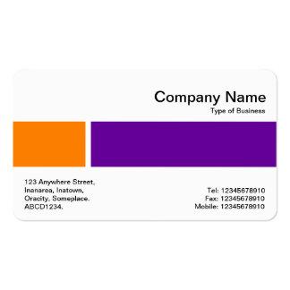 Banda media - dos tonos 02 - naranja y púrpura tarjetas de visita