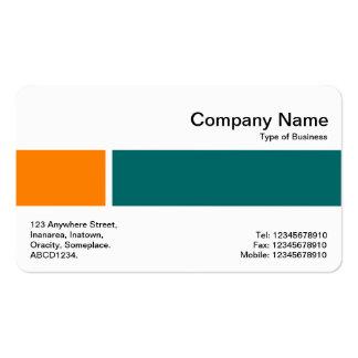 Banda media - dos tonos 02 - naranja y verde tarjetas de visita