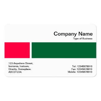 Banda media - dos tonos 02 - rojo y verde tarjetas de visita