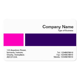 Banda media - dos tonos 02 - rosa y púrpura del DP Tarjetas De Visita