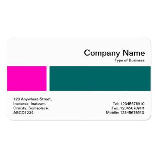 Banda media - dos tonos 02 - rosa y verde de musgo tarjetas de visita