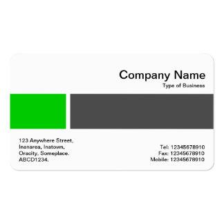 Banda media - dos tonos 02 - verde y gris tarjetas de visita