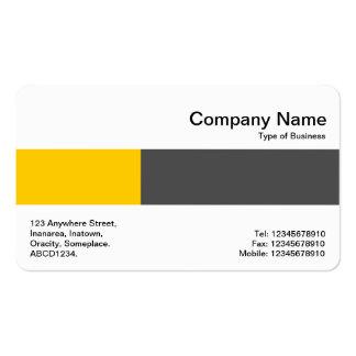 Banda media - dos tonos - ambarina y gris oscuro tarjetas de visita
