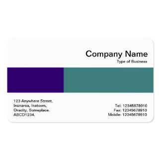 Banda media - dos tonos - azul y verde tarjetas de visita