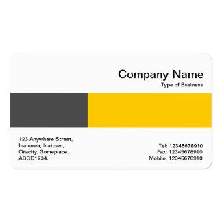Banda media - dos tonos - gris oscuro y ambarina tarjetas de visita