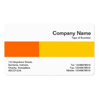 Banda media - dos tonos - naranja y ámbar tarjetas de visita