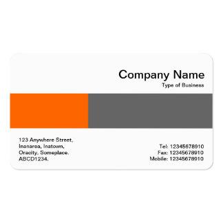Banda media - dos tonos - naranja y gris tarjetas de visita