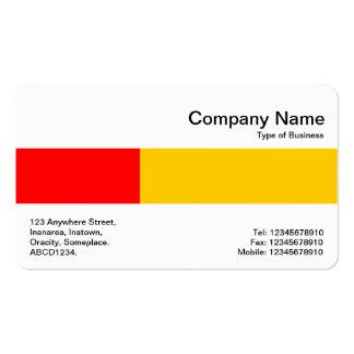 Banda media - dos tonos - rojo y ámbar tarjetas de visita