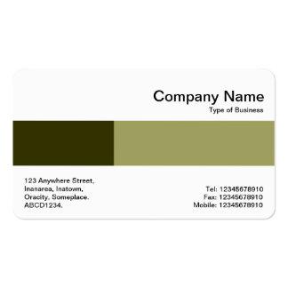 Banda media - dos tonos - sombras de la aceituna tarjetas de visita