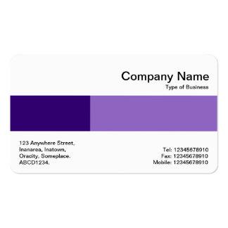 Banda media - dos tonos - sombras de la púrpura tarjetas de visita