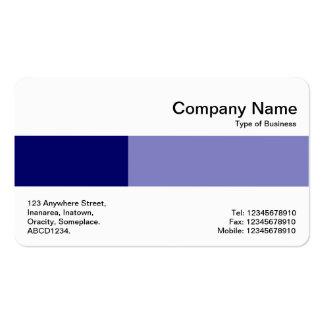 Banda media - dos tonos - sombras del azul tarjetas de visita