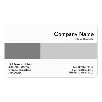 Banda media - dos tonos - sombras del gris tarjetas de visita