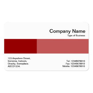 Banda media - dos tonos - sombras del rojo de ladr tarjetas de visita