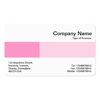 Banda media - dos tonos - sombras del rosa tarjetas de visita