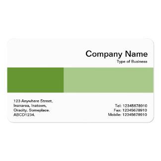 Banda media - dos tonos - sombras del verde tarjetas de visita