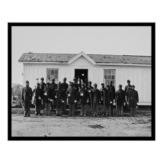 Banda militar afroamericana 1865 poster