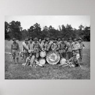 Banda militar de Trenton New Jersey: 1900s tempran Póster