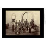 Banda militar del veterano en Washington, DC 1865 Felicitación