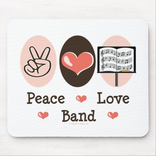 Banda Mousepad del amor de la paz Tapetes De Raton