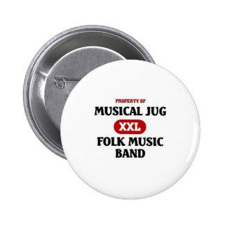 Banda musical de la música tradicional del jarro pins