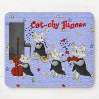 Banda musical del gato de la música linda de los g alfombrillas de raton