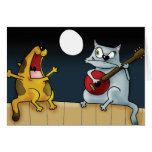Banda musical del gato tarjetas
