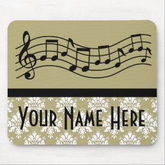 Banda o damasco personalizado coro de la música alfombrillas de raton